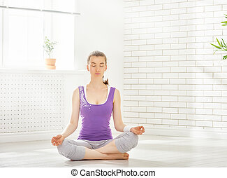 prática, ioga