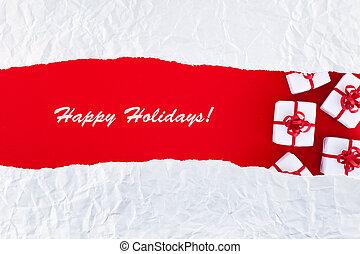 prázdniny, vánoce karta, pozdrav