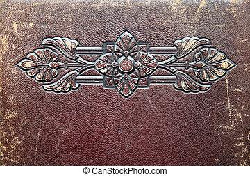 präglat, antikvitet, läder