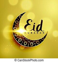 prämie, fest, mond, dekoration, islamisch, halbmond,...