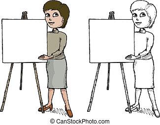 präsentator, weibliche