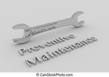 prävention, begriff, wartung