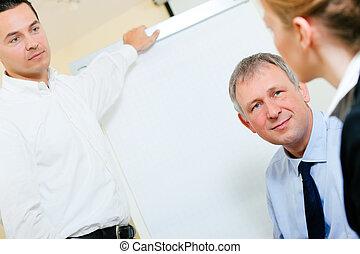 præsentation, møde, firma