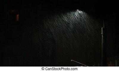 près, gouttes, pluvieux, lampe, foyer, sélectif,...