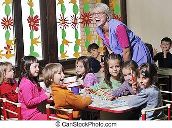pré-escolar, crianças