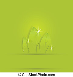 pré, feuille verte, fond, gentil