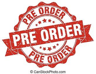 pré, signe., stamp., ordre, cachet