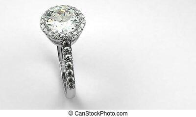 précieux, anneau diamant