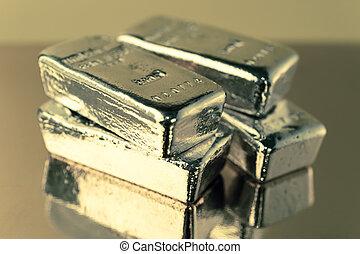 précieux, brillant, or, barres., fond, pour, finance, banque, concept., commercer, précieux, metals., bullions.
