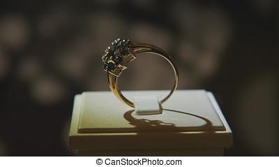 précieux, diamant, rings., amende, luxe, diamant, bijoux,...