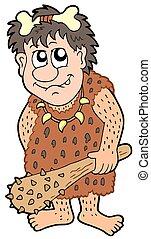 préhistorique, dessin animé, homme