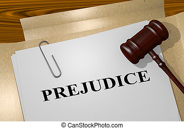 préjugé, concept, -, légal