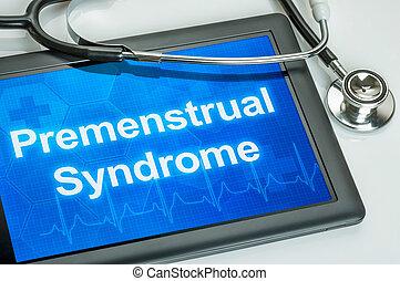 prémenstruel, diagnostic, syndrome, tablette, exposer