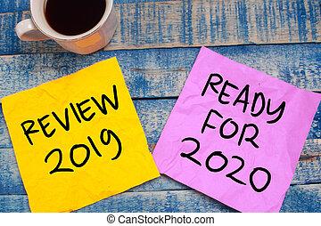 préparer, 2019, revue, 2020