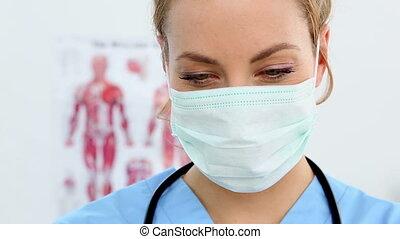 préparer, joli, injection, infirmière