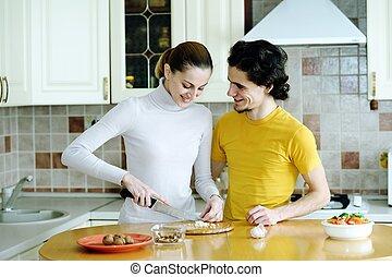 préparer, nourriture végétarienne