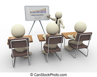 présentation, business, 3d