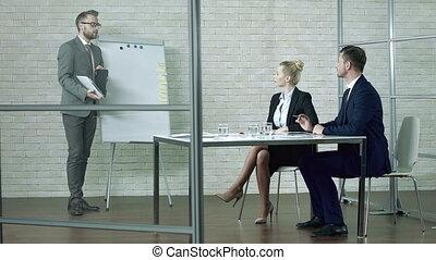 présentation, business, recherche