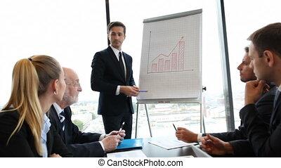 présentation, businesspeople