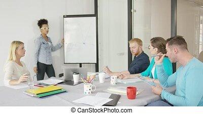 présentation, collègues, bureau