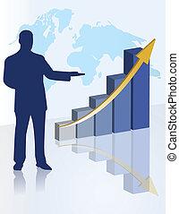 présentation, diagramme, business