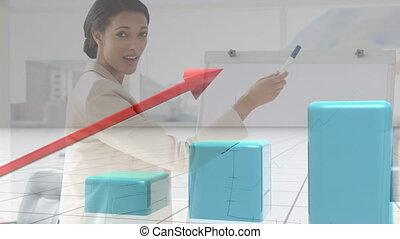 présentation, donner, composite, numérique, femme affaires
