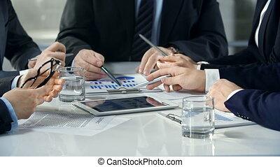 présentation, financier, données