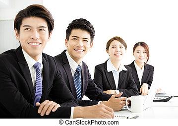 présentation, groupe, conférence, business, écoute
