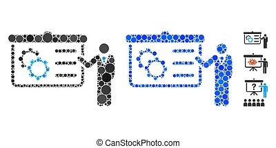 présentation, icône, mosaïque, articles, spheric