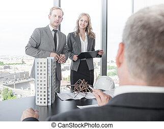 présentation, investisseurs, architectes
