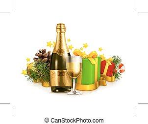 présente, champagne