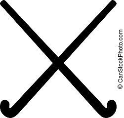présentez hockey, bâtons