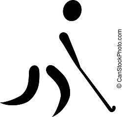 présentez hockey, icône