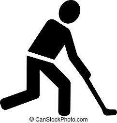 présentez hockey, pictogramme
