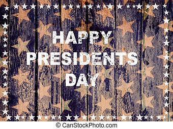 président, heureux, jour, carte, salutation