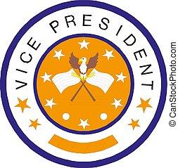 président, illustration, vice, icône américaine, vecteur