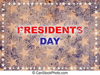 président, jour, carte, salutation