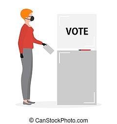 présidentiel, élection, vote, vecteur, gens, campagne