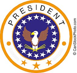 présidentiel, illustration, américain, grand, cachet, icône, vecteur