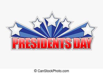 présidents, conception, jour, illustration, signe