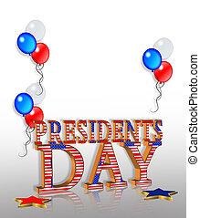 présidents, graphique, frontière, jour