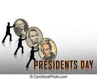 présidents, graphique, jour