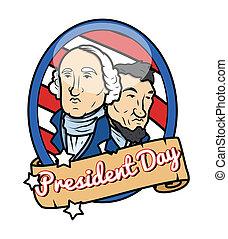 présidents, thème, conception, jour, heureux