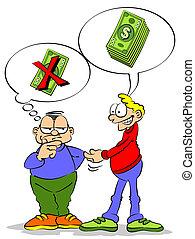 préstamos del dinero