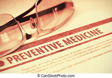 préventif, medicine., illustration., 3d