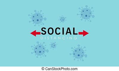 prévention, social, distance, campagne, covid19