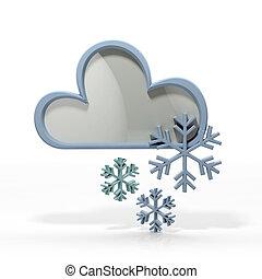 prévisions météorologiques, icône, 3d
