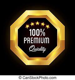 prêmio, etiqueta, qualidade, design.