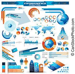 prêmio, infographics, mestre, cobrança