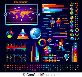 prêmio, mestre, collection:, infographics